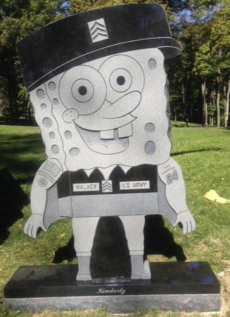 Пам'ятник Губці Бобу з граніта SpongeBob