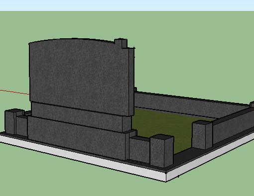 Проект меморіального комплекса, вид ззаду