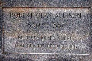Могила Роберта Клея Еллісона