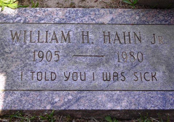 Могильна плита Вільяма Хани