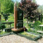 Пам'ятник з колоною, комбінований граніт