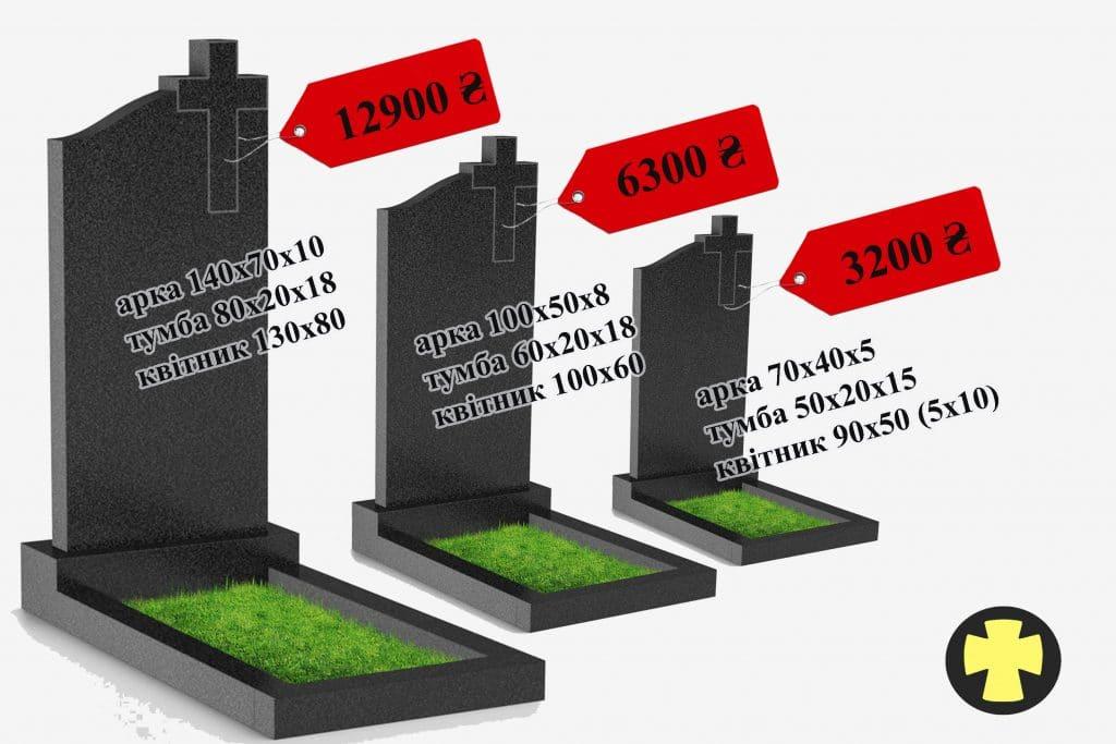 Ціни на пам'ятники